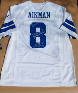 Troy Aikman Jersey Signed & Inscribed to Me_He Bought My House_Much Appreciation