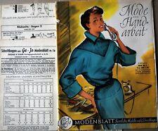 Geyo modenblatt mode zeitschrift 1950mit schnittmuster kompl