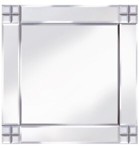 Classique Croix Coin Miroir Carré Miroir Mural 60cm x 60cm