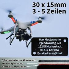 Drohnenkennzeichnung, Drohnenschild, Plakette Drohne Adressschild 30x15mm