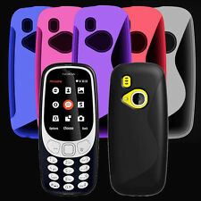 For Nokia 3310 2017 New Black Gel Silicone SLine Rubber Phone Case Cover