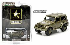 2015 GreenLight 1:64 *US ARMY* 2014 Jeep Wrangler 4x4 *DARK GREEN SOFT TOP* NIP!