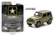2015 GreenLight 1:64 *US ARMY* 2014 Jeep Wrangler 4x4 *DARK GREEN SOFT TOP* NIP!