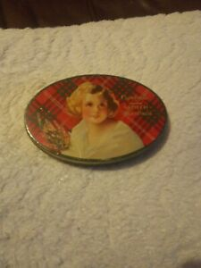 Antique Crawford & Sons Girl Image Free sample Biscuit Tin c1920s