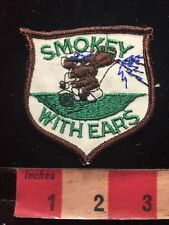 Vtg (AS—IS STITCHING) CB RADIO Police Patch SMOKEY WITH EARS MOTORCYCLE COP 87I4