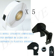 5 Etichette per Brother DK-11204 17mm X 54mm QL1000 series QL 710 QL 720NW