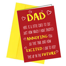 Greetings Card Comedy Rude Funny Humour Birthday or Fathers Day Dad Daddy #164