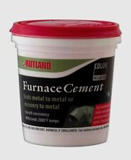 New! RUTLAND 1/2 Pt Chimney Sweep Furnace Cement to 2,000 deg F Mortar Black 64A