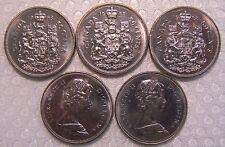 CANADA 50 Cents 1968 Uncirculated (MS-60-62) ***5 PCS LOT***
