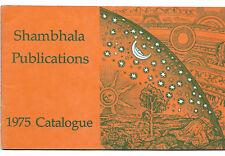 1975 SHAMBALA PUBLICATIONS CATALOG Buddhism New Age