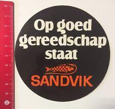 Aufkleber/Sticker: Sandvik - Op Goed Gereedschap Staat (0606161)
