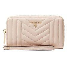 ❤️ Michael Kors Jet Set Soft Pink/Gold Leather Wallet