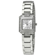 Guess Silver Dial Ladies Crystal Watch W0306L1