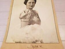 HUGE! OFFICIAL Photograph Queen Mother Elizabeth II Mum Signed Photo Document UK