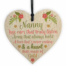 Nan Card Birthday Gifts Nanny Gran Grandma Grandad GIFT Heart Sign Christmas