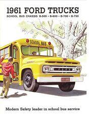 1961 Ford School Bus Chassis B-500 B-600 B-700 B-750 Dealer Sales Brochure