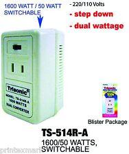 50W/1650W watt dual power foreign travel converter adapter 240/220V To 120/110V