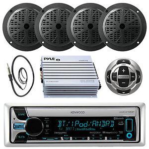 KMR-D562BT Marine CD/MP3 Pandora Radio Antenna,4 Speakers,400W Amp+Wired Remote