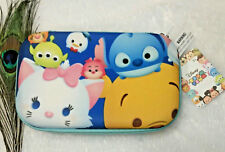Disney Tsum Tsum Pencil Cosmetic Hard shell Fabric case box NWT