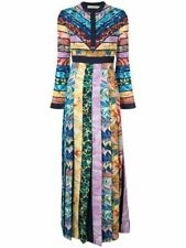 MARY KATRANTZOU DESMINE GRAPHIC PRINT CREPE MAXI DRESS, BNWT UK 8 US 4 EU 36