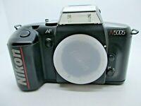 NIKON N5005 35mm SLR FILM CAMERA with Nikon FX AF mount Tested and Working Good