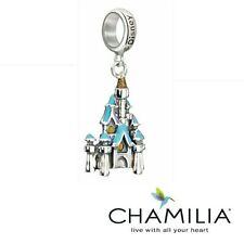 Genuine Chamilia 925 silver Disney Castle sleeping beauty bracelet charm in box