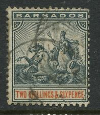 Barbados 1892 2/6d CDS used