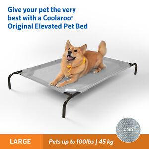Coolaroo Raised Dog Beds - Grey