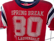 Vtg Bantums Paper Thin Striped Spring Break Ringer S Varsity Retro 80s Jersey 80