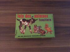 """LOTO DES ANIMAUX FAMILIERS """"Spiel"""" Lotto, Vintage,Kinderspiel"""