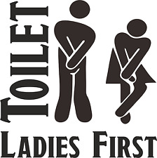 Caravan Toilet Door Sticker Loo Sticker Toilet Door Sign Camper Motor Home Loo
