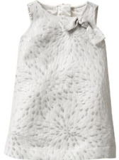 Baby Gap Girl 12m 18m  White Silver Sleeveless Formal Party Bridesmaid Dress