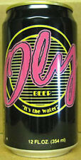 OLY BEER black, pink, green,& yellow CAN w/ STRIPES Pabst Olympia WASHINGTON gd1