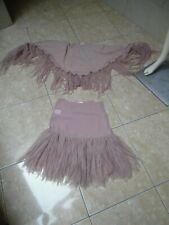 MAIS IL EST OU LE SOLEIL jolie jupe avec son châle assorti froufrou taille 36