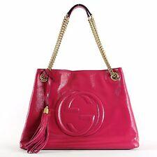 $1980 NEW Authentic GUCCI SOHO Medium Chain Shoulder Tassel Tote Bag GG