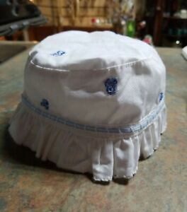 NWT Carter's Baby Infant Baby Kids Embroidered Bucket Hat 0-3 months White Blue