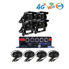 4CH GPS WIFI 4G 1080P 256GB SD Car DVR MDVR Video Record 2.0MP Rear View Camera
