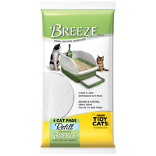 New listing 10x Tidy Cats Breeze Litter Pad 4-count Refill Packages Total 40 pads