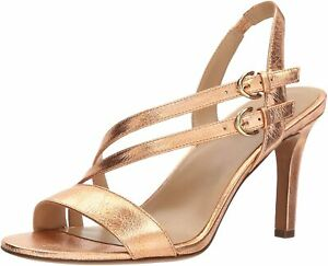 👠New NATURALIZER Kayla Size 6.5 W Copper Gold LEATHER Sling-back Shoes RRP $170