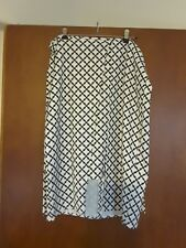 Ladies black and white skirt  size L