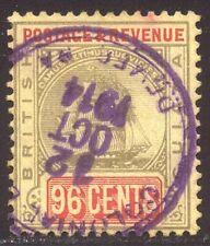 British Guiana #170 Used - 1905 96c Black & Red ($55)