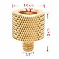 "New 3/8"" Male to 1/4"" Female Screw Adapter Brass Copper Tripod Thread For Camera"