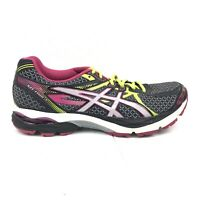 Asics Gel Flux 3 Running Shoes Womens Size 10 Black Gray Pink Sneakers T664N