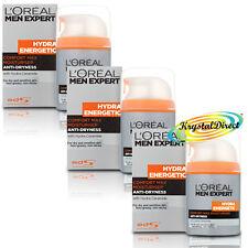 3x Loreal Men Expert Hydra Energetic Comfort Max Anti Dryness Moisturiser 50ml