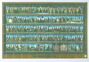 Denmark. Christmas Sheet 1986. Mnh. Folded. Christmas In the Forest. Animals