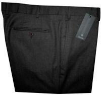 $325 NEW ZANELLA ITALY CHARCOALISH-BROWN FLANNEL SLIM FIT DRESS PANTS 40 41