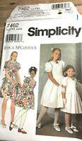 Simplicity 7462 Childs Girls Dress Jessica McClintock Size 3-6 Uncut Sew Pattern