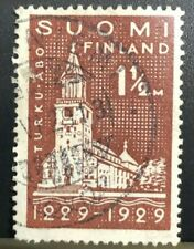 Finland 1929, 700 Years City of Turku Letterpress; wmk. (Collectible Stamp)