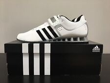 NEW IN BOX WHITE ADIPOWER WEIGHTLIFT SHOES, A RARE SIZE UK 13.5.