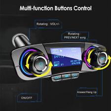 Bluetooth Handsfree Car Kit FM Transmitter Wireless Aux Audio USB MP3 Player New